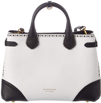 Burberry Medium Banner Brogue Leather Tote