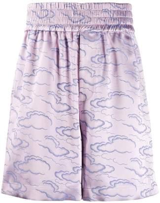 Lee Ximon Cloud brocade high-waist shorts