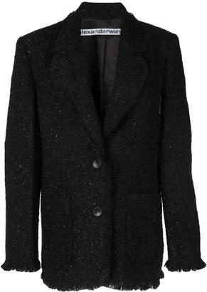 Alexander Wang oversized tweed blazer