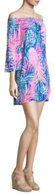 Lilly Pulitzer Tobyn Off-The-Shoulder Shift Dress