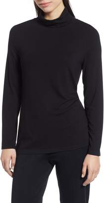 Ming Wang Long Sleeve Turtleneck Top