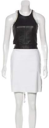 Helmut Lang Leather Knee-Length Dress Black Leather Knee-Length Dress