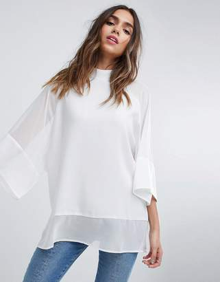 Asos DESIGN Sheer and Solid Oversize Tee
