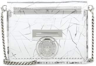 Balmain Bbox plexi clutch