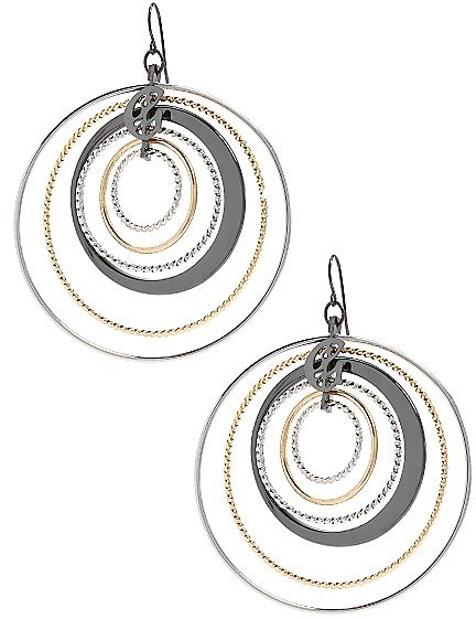 Ear to Stay Six Ring Hoop Earrings