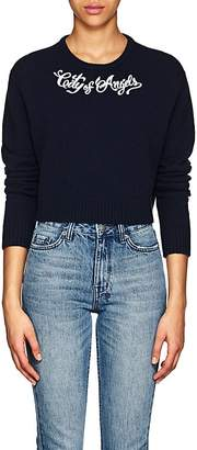 """ADAPTATION Women's """"City Of Angels"""" Embroidered Cashmere Crop Sweater"""