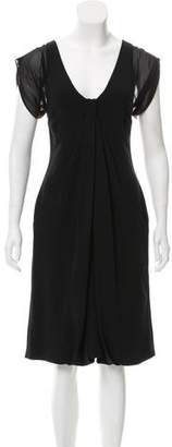 Giorgio Armani Draped Silk Dress w/ Tags