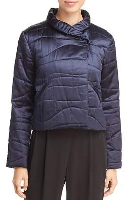 Eileen Fisher Silk Cropped Puffer Jacket - 100% Exclusive