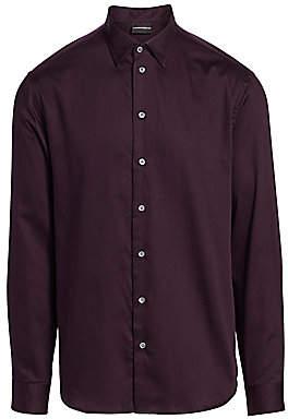 Emporio Armani Men's Mini Check Pattern Shirt