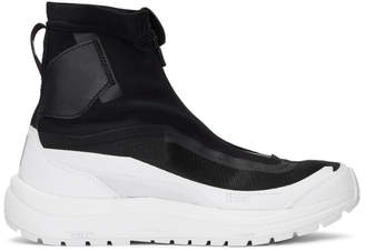 11 By Boris Bidjan Saberi Black and White Salomon Edition Bamba 2 Sneakers