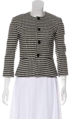 Ralph Lauren Black Label Houndstooth Wool Blazer