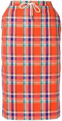 Essentiel Antwerp plaid pencil skirt