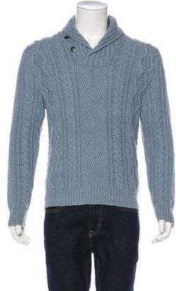 Co RRL & Cable Knit Shawl Sweater