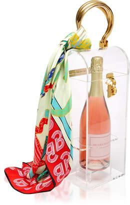 Brandon Maxwell Acrylic And Brass Champagne Box