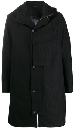 Masnada hooded pinstriped jacket