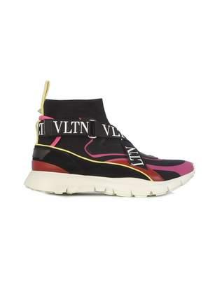 Valentino Women's Qw2s0h51xstekm Polyester Hi Top Sneakers