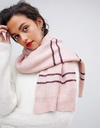 Vero Moda Knitted Striped Scarf