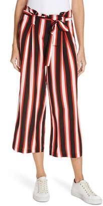 L'Agence Samira Stripe Paperbag Waist Wide Leg Pants