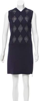 Louis Vuitton Argyle Sheer-Accented Dress