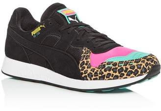 Puma Men's RS-100 Party Suede Low-Top Sneakers