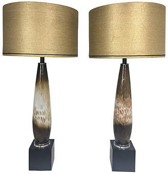 One Kings Lane Vintage Italian Murano Glass Lamps - Set of 2