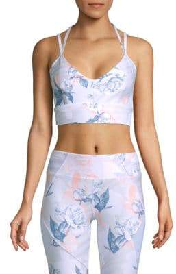 Betsey Johnson Strappy Back Printed Sports Bra