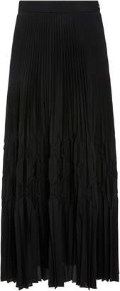 Givenchy Pleated Crepe De Chine Maxi Skirt