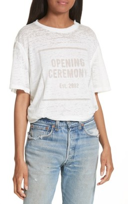 Women's Opening Ceremony Logo Burnout Tee $95 thestylecure.com