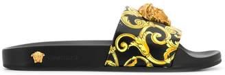 Versace Medusa head printed slides