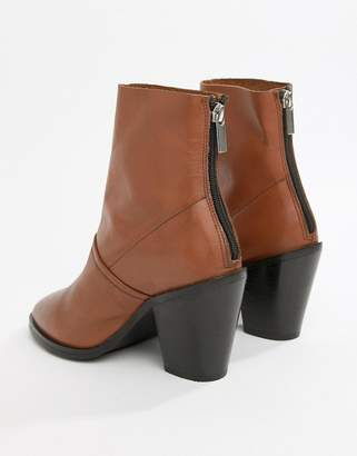 Asos Design DESIGN Elexis leather ankle sock boots