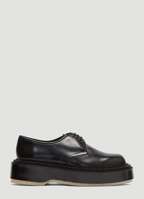 Adieu X Undercover Chunky Sole Derby Shoes in Black
