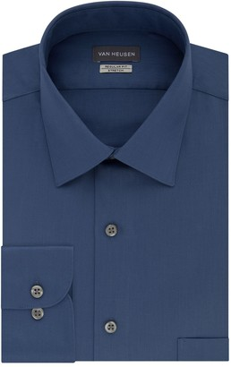 Van Heusen Men's Regular-Fit Stretch Sateen Dress Shirt