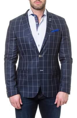 Blend of America Maceoo Descartes Check Linen & Cotton Sport Coat