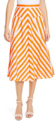Kate Spade Deck Stripe A-Line Skirt