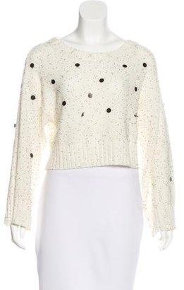 Sass & Bide Embellished Cropped Sweater