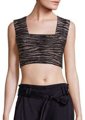 A.L.C. Ali Striped Cropped Top