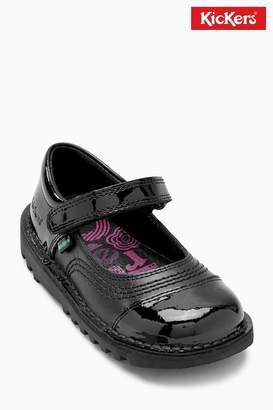 Next Girls Kickers Black Kick Pop Strap Shoe