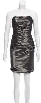 Ralph Lauren Pleated Satin Mini Dress