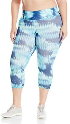 Champion Women's Plus Size Absolute Capri Legging with SmoothTec Print