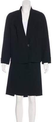 Akris Structured Knee-Length Skirt Suit