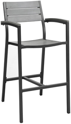 Modway Maine Outdoor Patio Aluminum Bar Stool