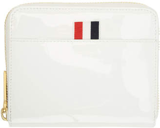 Thom Browne White Short Zip Purse Wallet