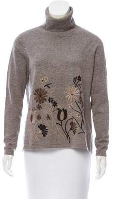 Co Embroidered Wool-Cashmere Turtleneck