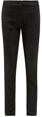 Ann Demeulemeester Stretch Jersey Backed Leather Leggings - Womens - Black