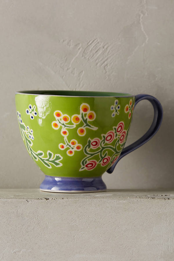 Anthropologie Bellina Blooms Mug