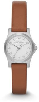 Marc by Marc Jacobs Henry Dinky Stainless Steel & Leather Strap Watch/Tan $150 thestylecure.com