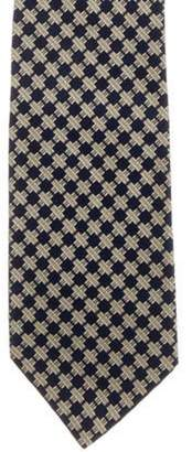 Tiffany & Co. Abstract Print Silk Tie navy Abstract Print Silk Tie