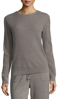 St. John Cashmere Jewel-Neck Sweater