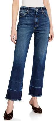 Amo Denim Bella High-Rise Jeans with Released Hem