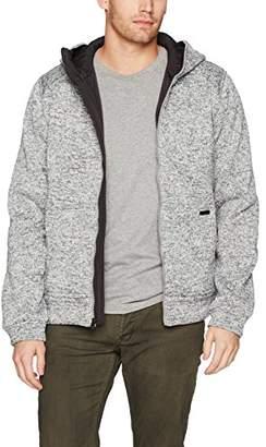 William Rast Men's Fleece Hooded Jacket